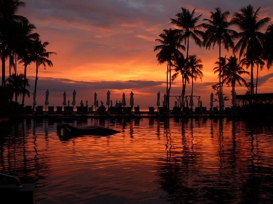 Khuk Khak, تايلاند: Sonnenuntergang von der Poolbar