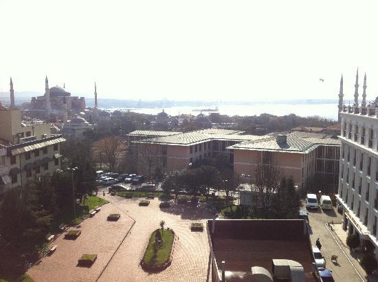 Hali Hotel: View from breakfast terrace