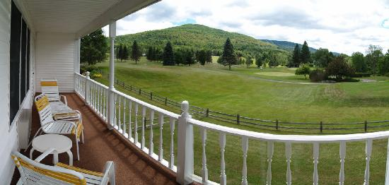 The Thompson House: View from the Evergreen of Windham Country Club.