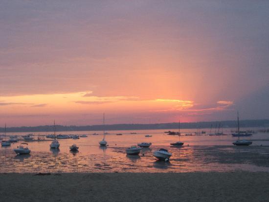 Hotel des Pins : levé de soleil sur le bassin