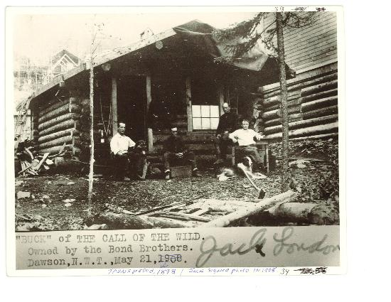 Jack London Museum: Jack London Cabin in 1898 south of Dawson City