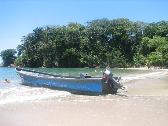 Punta Uva Dive Center: This is the dive boat with NO LADDER!