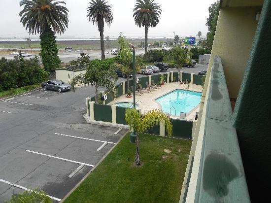 Central Inn & Suites: auf dem Balkon unseres Zimmers