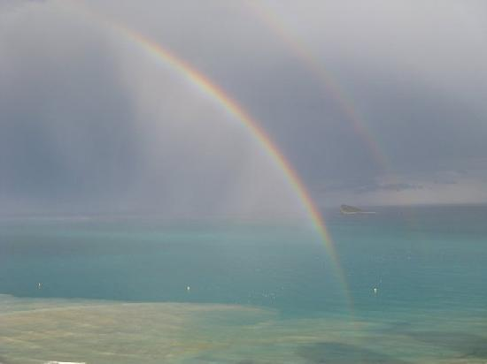 Servigroup Torre Dorada : Looking out at a post-storm rainbow