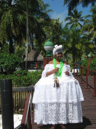 Hotel Transamerica Ilha de Comandatuba: Empfang nach Bootsüberfahrt