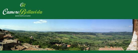 Camere Bellavista: Panorama della campagna senese dal balcone della camera n 6
