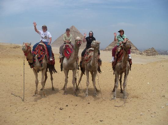 Ayman Ahmed - Tour Guide: Enjoy your camel ride.