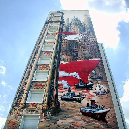 Angouleme, Frankrike: OT Angoulême - Mur peint (New-York sur Charente - Nicolas de Crecy)