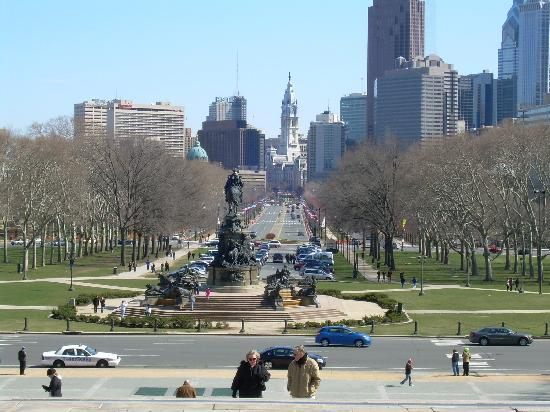 Filadelfia, PA: View from Philadelphia Museum of Art