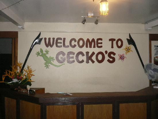 Gecko's Resort: Front reception