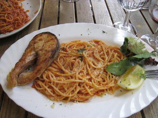 Dall'artista: perfect spaghetti and salmon