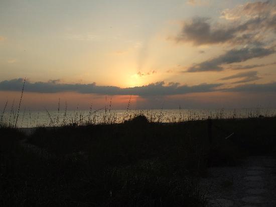 Sunset on beach at Suntan Terrace