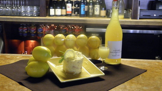 Cello's Restaurant: Tommy's Home-made Limoncello and our Limoncell Tiramisu