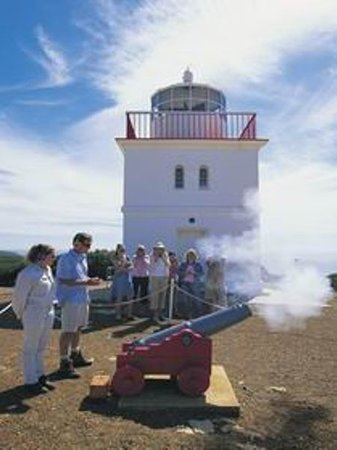 Cape Borda Lighthouse Keepers Heritage Accommodation: Canon Firing - Cape Borda