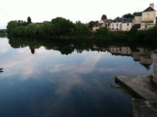 Hotel Diderot: View of the river from Chinon