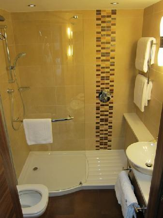 Really small bathroom picture of hilton garden inn hotel for Really small bathroom