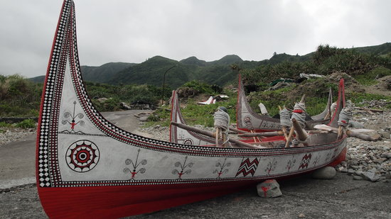 Taitung County, Taiwan: Traditional boats of the Yami people