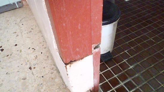 Sea View Hotel & Holiday Resort: more rotting in bathroom