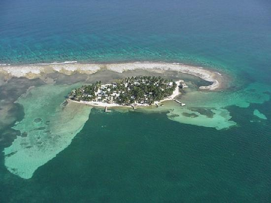 Aerial view of Tobacco Caye