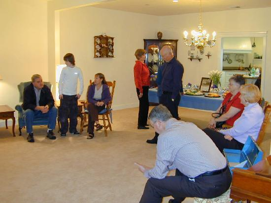 Cornerstone Bed & Breakfast: Our Large Living Room is often used for family gatherings