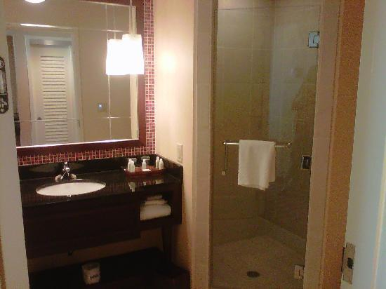 Renaissance Montgomery Hotel & Spa at the Convention Center: Bath. Also has tub.