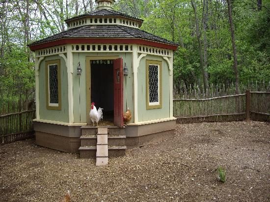 The Inn at Little Washington: Even the chickens have beautiful accommodation!