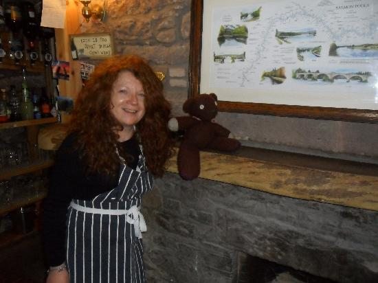 Bankfoot Inn: Susan and our travelling companion