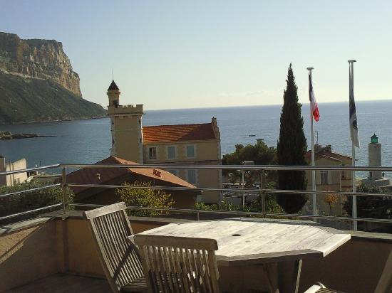 Best Western Hotel La Rade: Vue de la terrasse de la chambre
