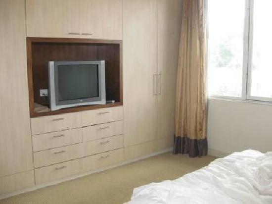 Somerset Chancellor Court: TV in main bedroom