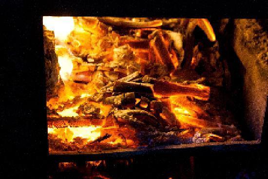 Fab Log Burning Stove at Bothan Bar Restaurant Kinlochleven