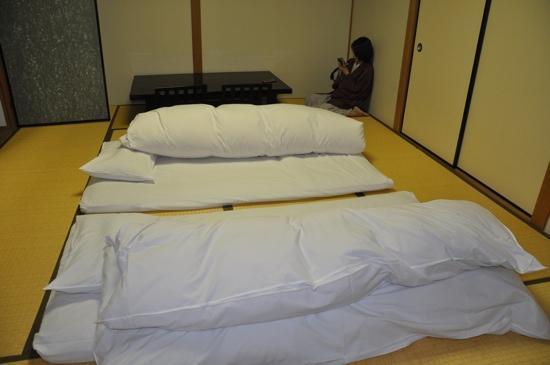Miyukiso Hanamusubi: comfortable futon beds