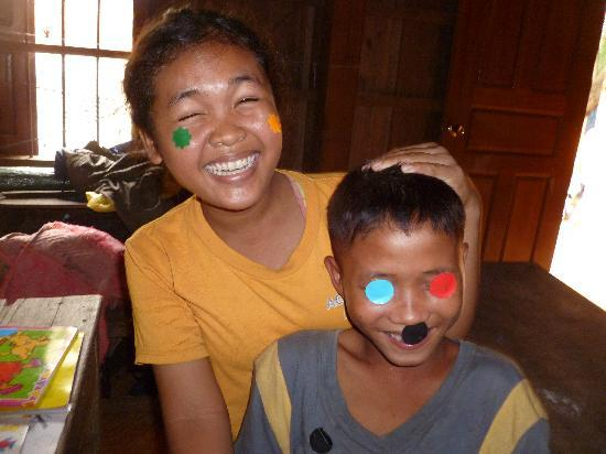 Traditional Khmer Dance at ACODO Orphanage : Goofing around