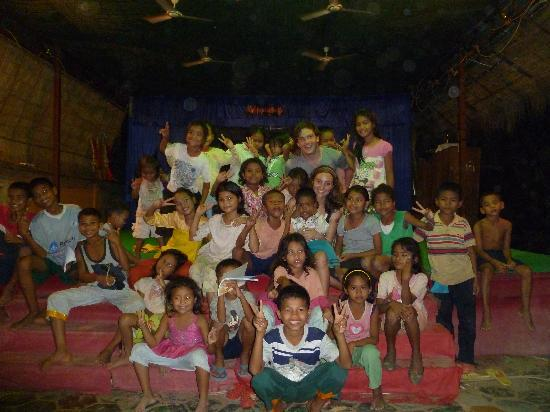 Traditional Khmer Dance at ACODO Orphanage : After a dance show