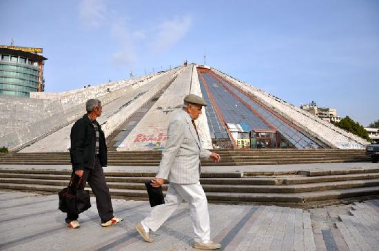 Tirana's Pyramid at TendToTravel.com