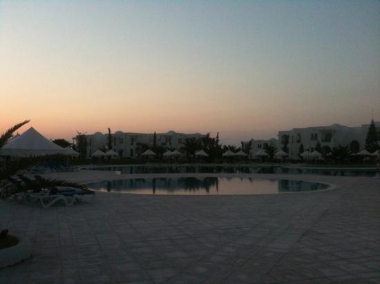 Vincci Helios Beach: coucher de soleil