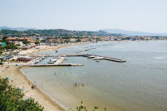 Vista panoramica si Scauri di Minturno Lazio