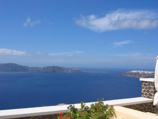 Santorini Princess: The view from our doorway