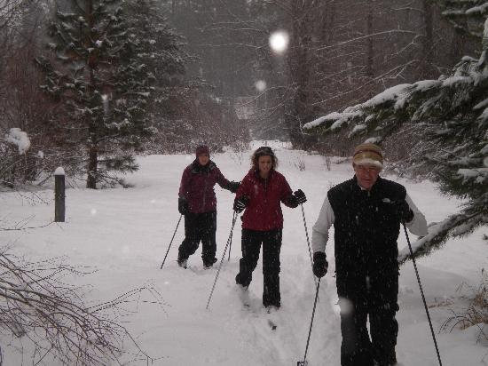 Mt Adams Lodge at the Flying L Ranch: X-country Skiing & Snowshoeing in winter