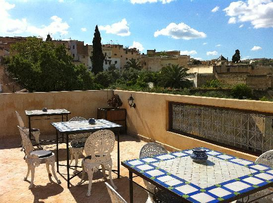 Riad Souafine : Roof terrace at the Jnane