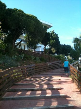 Alto da Colina Aparthotel: the steps everyday between block 1 and 2