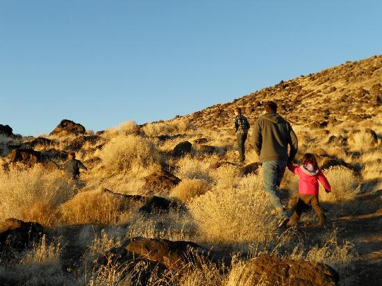 Great Salt Lake: hiking on the hills above the jetty