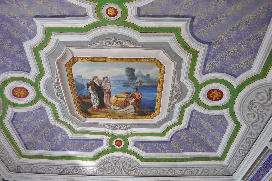 La Scogliera: Pino & Pina's newly painted ceiling