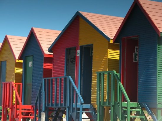 Cape Town Central, South Africa: Beach changing rooms