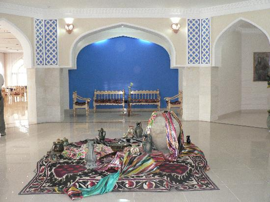 Usbekistan, Buchara, Hotel Minorai-Kalon, Empfangshalle