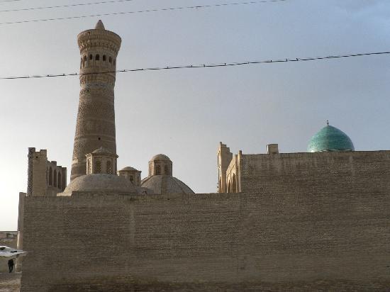 Usbekistan, Buchara, Hotel Minorai-Kalon, Blick aus dem Zimmerfenster