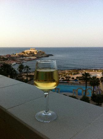 Hilton Malta: View from the executive lounge