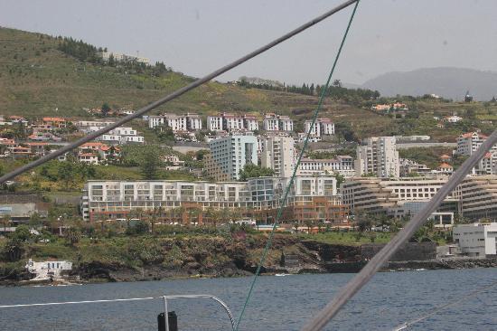Pestana Promenade: hotel view from the sea born boat view