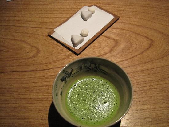 Kajitsu : Wonderful ending of green tea and petit fours.