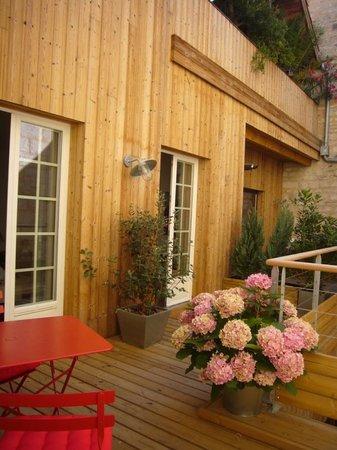 L'Esprit des Chartrons : Façade sur terrasse