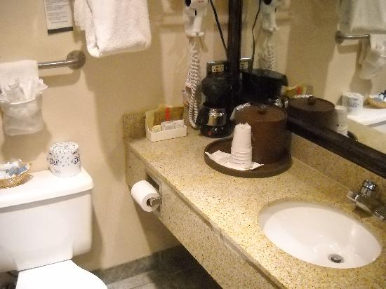 Best Western Kodiak Inn And Convention Center: Bestwestern Bathroom was nice - many were being upgraded with marble showers